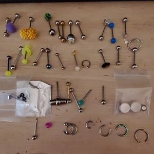Jewelry - Large collection of tongue rings